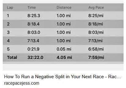 negative split 5K