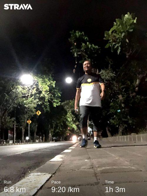 lari dengan semangat pagi